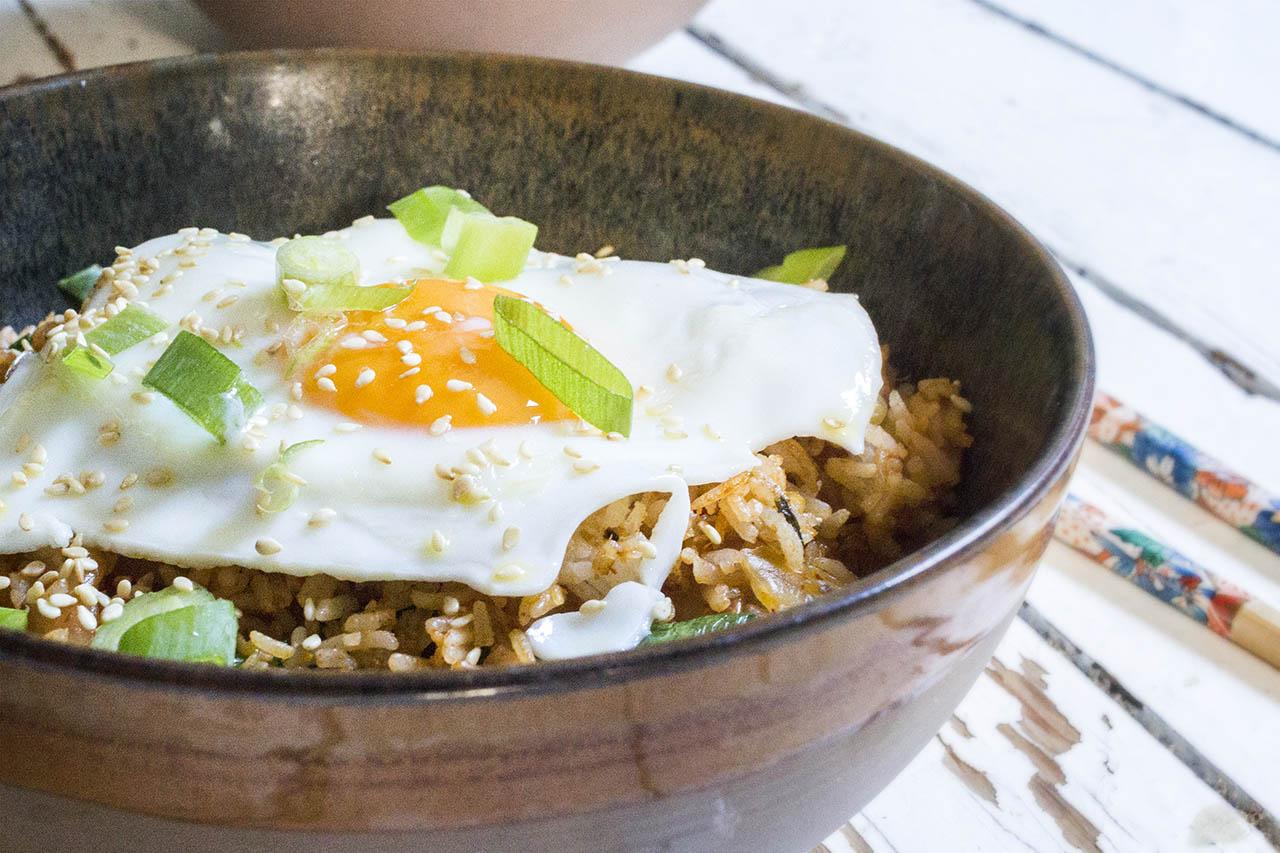 Kimchi gebakken rijst