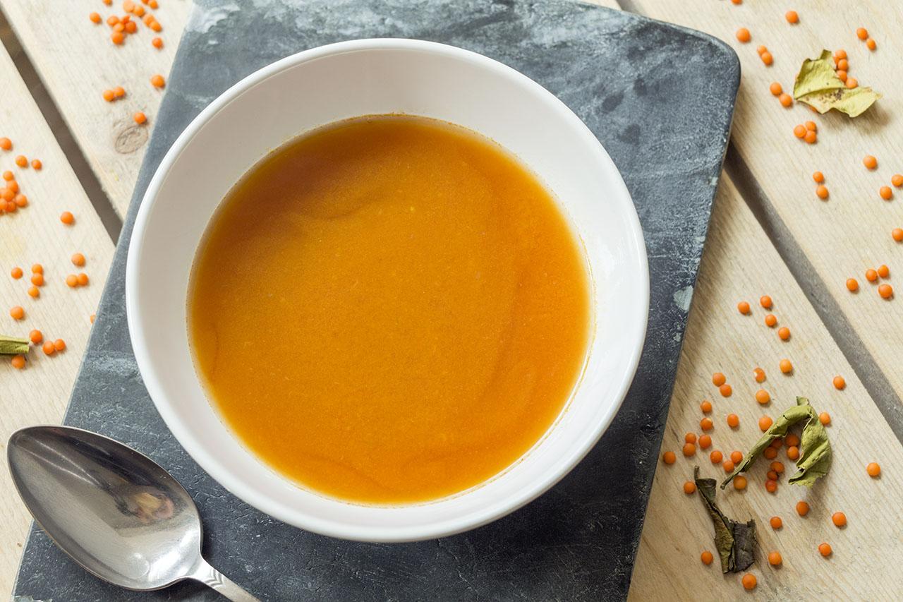 Tomatensoep met linzen - 2