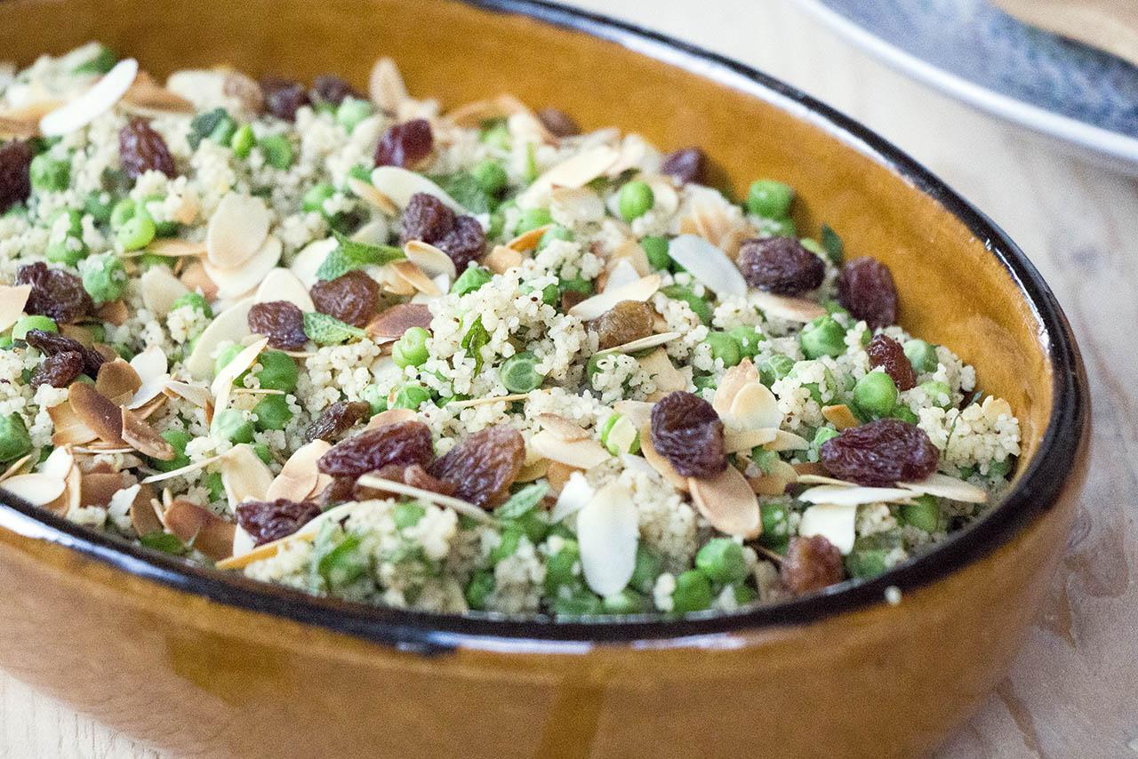 Couscous met doperwten en amandelschaafsel 2