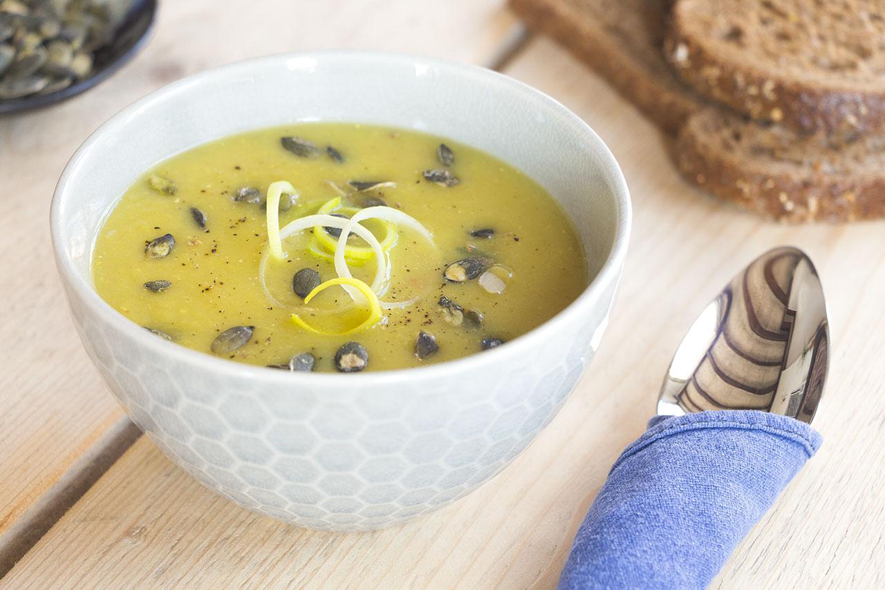 Aardappel-prei-soep