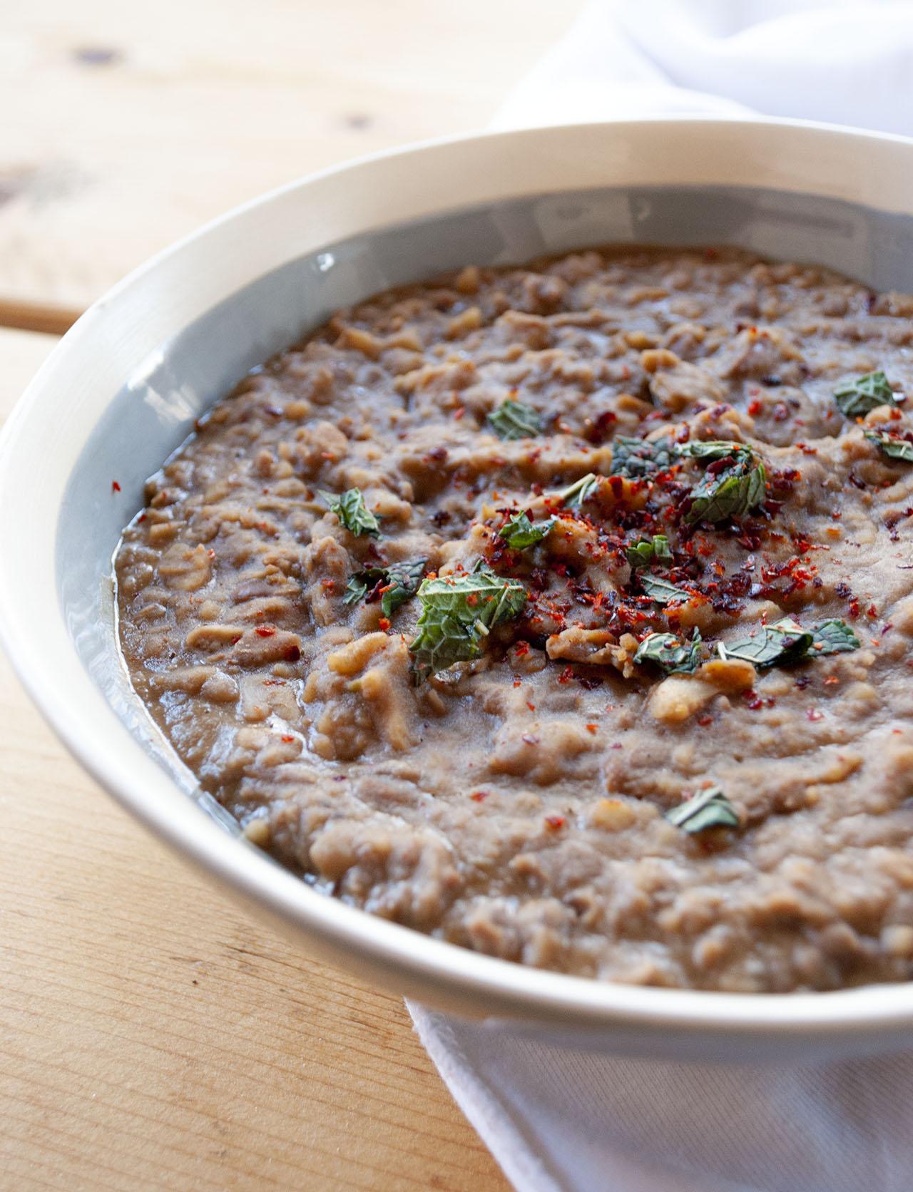 Mexicaanse bonenpuree (Refried beans)