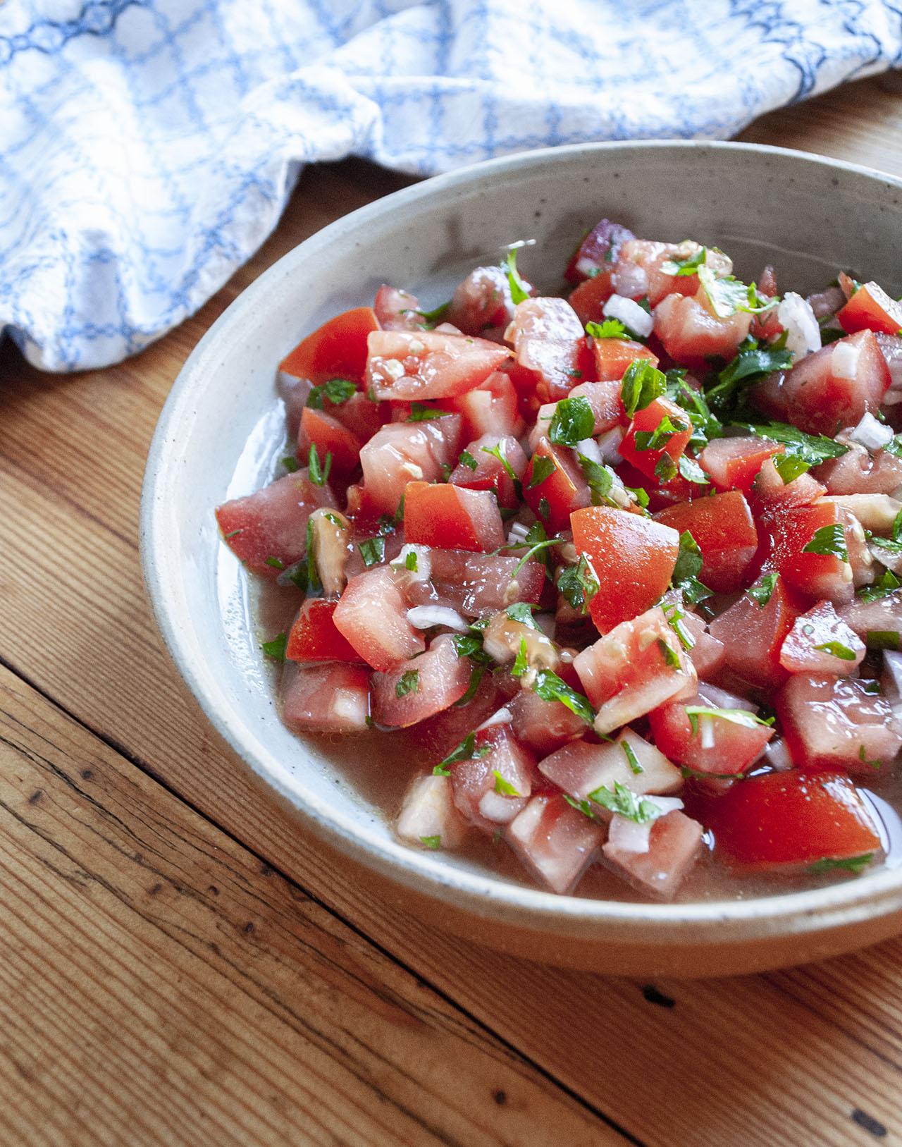 Marrokaanse-tomaten salade