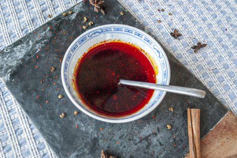 Chilivlokken olie zelfgemaakt chinees